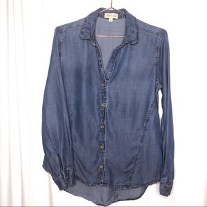 Anthropologie Cloth & Stone Woman's S Chambray Top